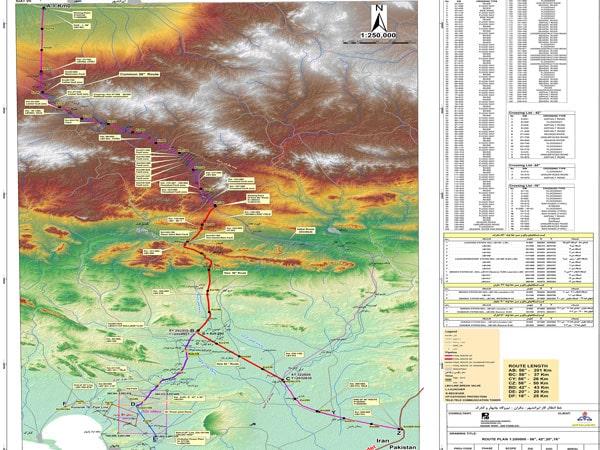 خط انتقال گاز ایرانشهر چابهار